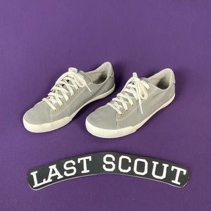 Keds Ortholite Gray Lace Up Canvas Sneakers Sz 7.5